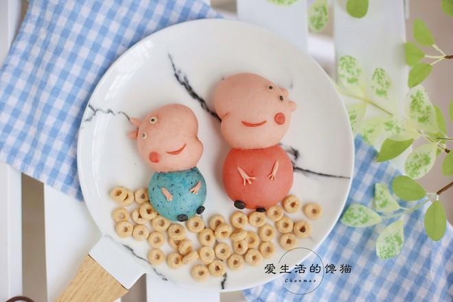 小猪佩奇馒头成品图