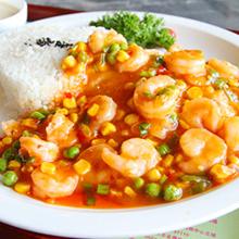 彩色虾仁饭